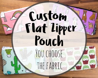 Custom Flat Zipper Pouch