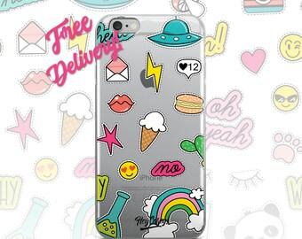 FREE SHIPPING Retro 80's Phone Case iPhone 7/7+/6/6S/6+/6S+65/SE, Galaxy S8/8+/7/7Edge/6/6Edge/5/Note5/J7Prime, Huawei P8/8PLite/P9/P9Lite
