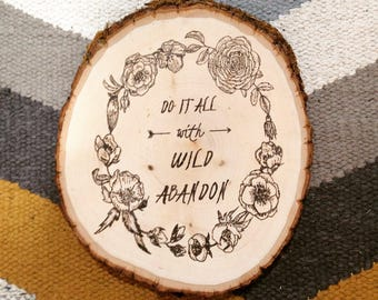 Wild Abandon Wall Hanging