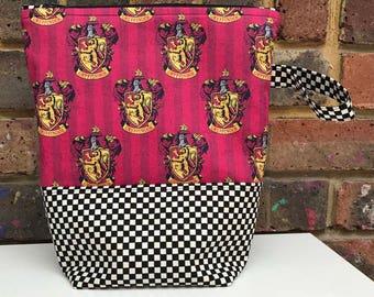 Harry Potter Gryffindor Zippered Project Bag