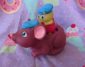1986 Playskool Country Mouse and Glo Cappy