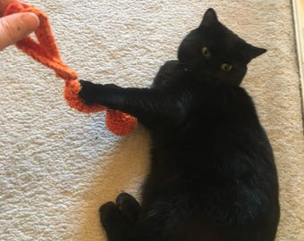 Handmade cat toy with bell, kitten toy, kitty toy