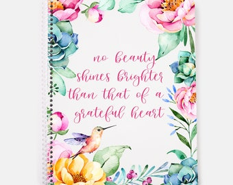 Gratitude Journal | Spiral Notebook | Gratitude Journaling | Gratitude Practice | Grateful | Writing Journal | Diary | Prayer Journal |
