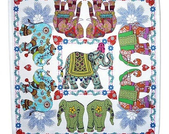 Elephant Napkins/Serviettes  (in sets of 2) Elephant parade. Stunning tables napkins for your  dinner parties