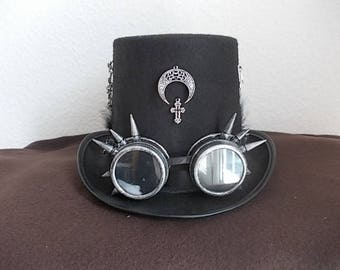 Gothic Hut. Hat. Höherer Zylinder. Schwarz. Size 58