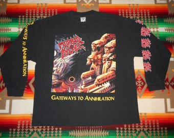 Morbid Angel Gateways To Annihilation Longsleeve T Shirt Size XL cannibal corpse death metal bolt thrower carcass naplam death deicide
