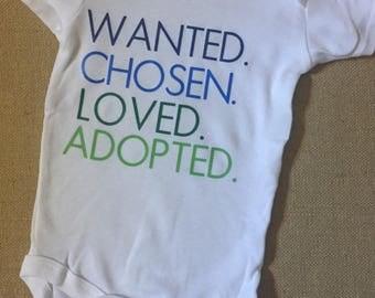 Adoption Onesie