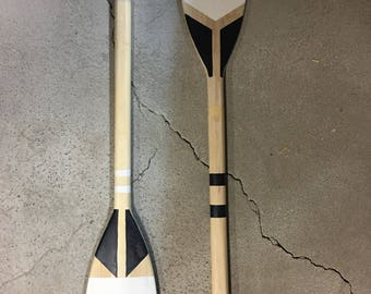 Painted wooden paddle