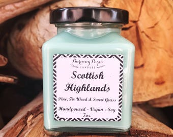 Scottish Highlands - Outlander inspired candle