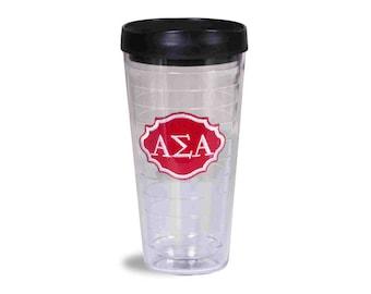 ASA Alpha Sigma Alpha Clear Emblem Super Tumbler