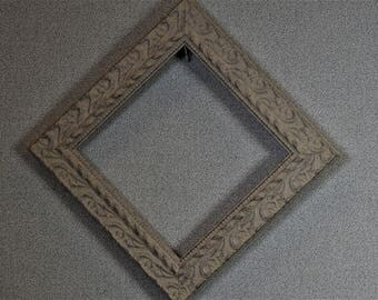 6 x 6 (approx)  Frame Square Silver Ornate Complete Frame Kit with Glass and Custom Cut Matting