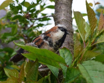 Needle felt handmade sparrow