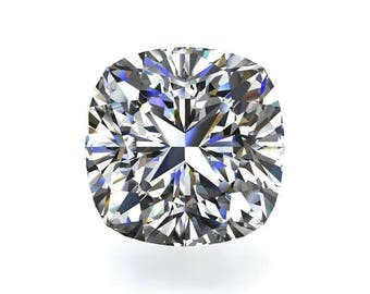 Loose Colorless Moissanite Cushion - Celestial Premier Moissanite - Colorless DEF Color