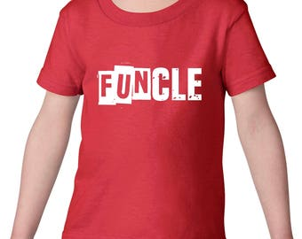 Family T-Shirt Funcle  Heavy Cotton Toddler Kids T-Shirt Tee