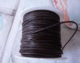 Brown Leather Cord, 1 Yard Round Leather Cord, 1mm wide Brown Real Leather Cord, Cord for Bracelet, Necklace Cord