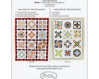 Sew Kind of Wonderful, Curve it Up 12 traditional blocks take on modern look