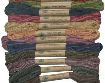 Valdani Heirloom European collection, hand dyed floss collection
