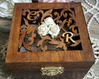 Ring Bearer Box - Rustic Brown | Wedding Ring Box | Ring Box | Brown Ring Bearer Box