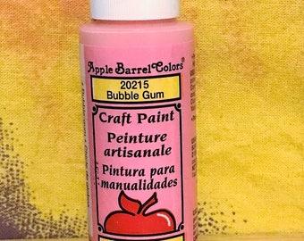 Plaid Apple Barrel Colors Craft Paint - Acrylic Paint - Bubble Gum - 2oz New Sealed