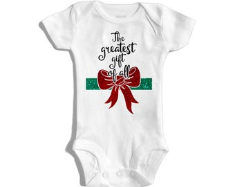 Christmas baby - First Christmas - Newborn Christmas - Christmas outfit - Christmas outfit baby - The greatest gift of all - Babyshower gift