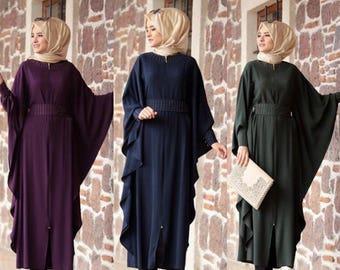 Made in turkey Long batwing abaya