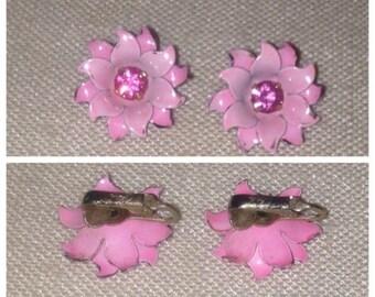 On Sale Coro Pink Flower Earrings