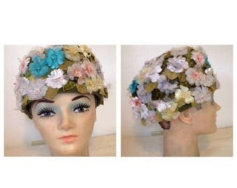 On Sale Vintage Amy of NY Floral Hat