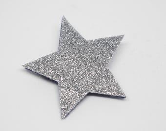 Star brooch silver sequins