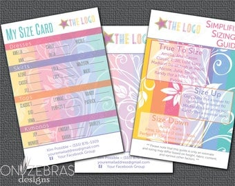 Floral My Size Card for LuLaRoe Consultants   4x6 Postcard   Digital File