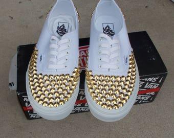 Weekend SALECustom Made Studded Vans Shoes