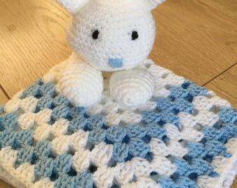 Bunny comforter finished product