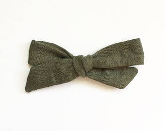 Fig Linen - Large Hand Tied Bow