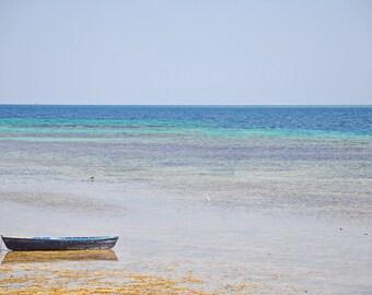 Photo sea, photo boat, Home decor, Office decor, Wall decor, Print art, Instant download, Digital download, Egypt, Gift, bathroom decor