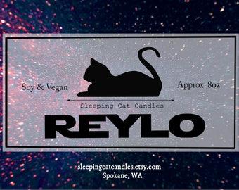 Reylo - Star Wars Inspired Handmade Fandom Soy Candle - Kylo Ren and Rey