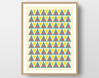 Abstract Print Geometrical Print Wall Art Retro Print Scandinavian Print Art Instant Download Wall Decoration Office Decor Home Decor Poster