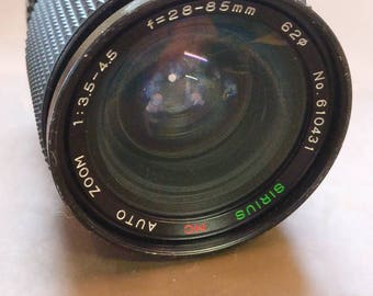 Sirius MC 28-85mm f3.5-f4.5 macro zoom lens