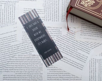 """Gilmore Girls """"I just take a book with me.."""" Rory Quote Bookmark"""