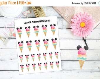 25% OFF Everything Mouse Ear Icecream - Planner Stickers