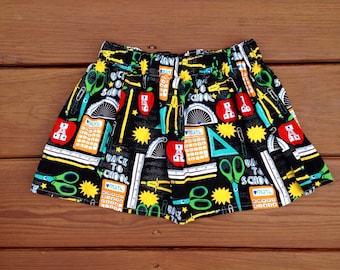 Back to School Girls Preschool Kindergarten Skirt