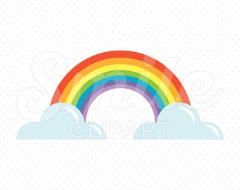 RAINBOW Clipart Illustration for Commercial Use | 0019