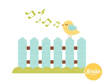 Songbird Clipart Illustration for Commercial Use | 0262