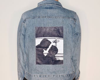 Vintage Pop Art Denim Jacket