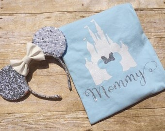 Disney Castle Mouse Bow Frozen Shirt, Tank, Baseball Tee Disney
