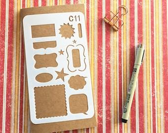 Bullet Journal Stencil #C11 - Planner, Journal, Craft, Scrapbooking, Decoration