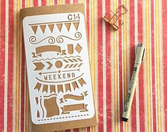 Bullet Journal Stencil #C14 - Planner, Journal, Craft, Scrapbooking, Decoration