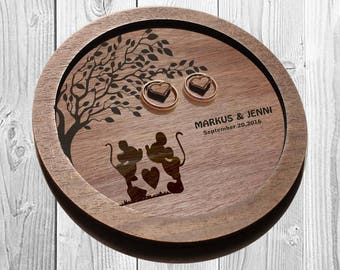 DISNEY Wedding ring plate, Rustic Ring dish, Disney ring dish,  DISNEY wedding, ring plates Wood, ring holder, personalized wedding gift
