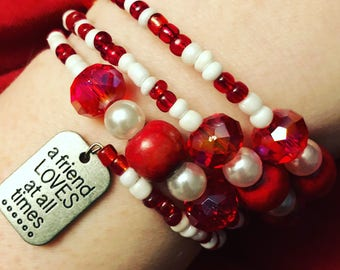 A Friend Loves At All Times Bracelet