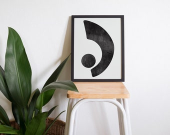 30x40cm Print • Illustration • Wall Art • Home Decor • Art Print • Abstract • Monochrome • EQUILIBRIUM 01
