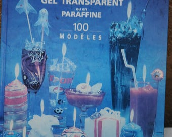 Book: decorative transparent gel or paraffin candles