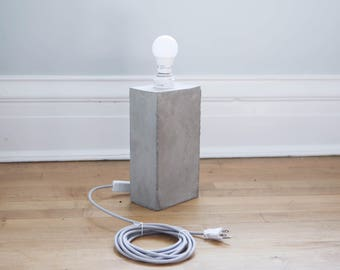 concrete lamp/concrete/desk lamp/ minimal lamp